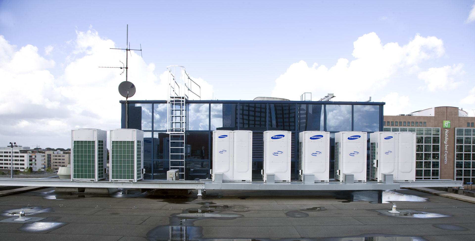 Samsung DVM vrf warmtepompen met warmteterugwinning balanceren energie in het gebouw