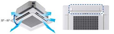 Optimale luchtverdeling Samsung mini 4-weg cassette warmtepomp airco