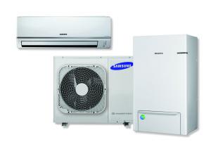 Samsung bivalente warmtepomp voor verwarmen en koelen