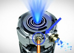 Samsung scroll compressor met vapor injectie